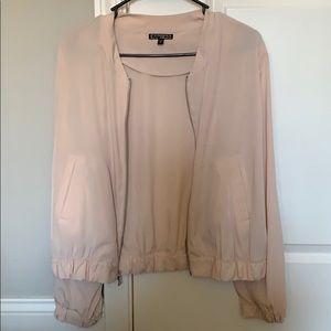 Cream color zip up jacket